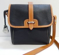 Dooney & Bourke Usa Vintage British Brown Leather Flap Cross Body Bag