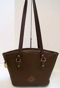 Dooney & Bourke Leather East West Usa Tote in Browns