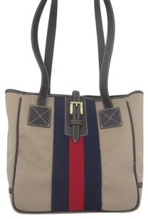 Dooney & Bourke Tote in beige blue red