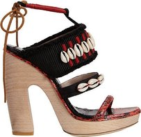 Dries van Noten Red / Black Platforms