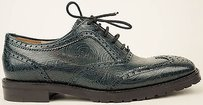 Dries van Noten Leather Wingtip Oxford Us6 Petrol Flats