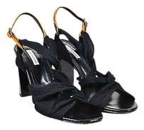 Dries van Noten Woven Black Sandals