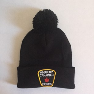 DSquared Dsquared Unisex Winter Hat Black NWOT