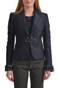 Dsquared2 Dsquared2 Womens Wool Silk Black Crystal Decorated Blazer