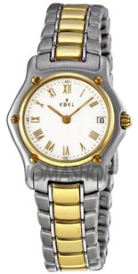 Ebel Classic Lady White Dial Steel and Gold Bracelet Ladies Watch