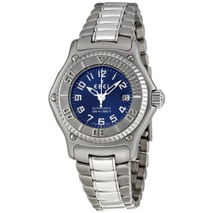 Ebel Discovery Blue Dial Automatic Stainless Steel Ladies Watch