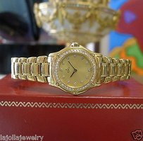 Ebel Ladies Ebel 18k Yellow Gold Diamond Bezel Gold Dial Dress Watch