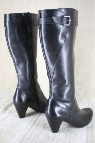 Ecco Hope Black Leather Riding Boots Size 40 10 Tall Knee High Womens 299 -  Tradesy