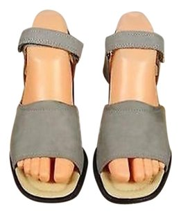 Ecco Leather Gray Sandals
