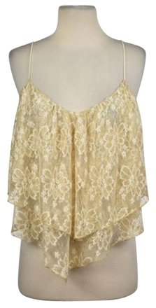 0f053e9c03ac8 delicate Ecote Womens Gold Floral Lace Tank Top Casual Sleeveless Shirt