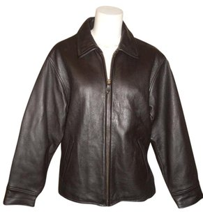 Eddie Bauer Leather black Leather Jacket