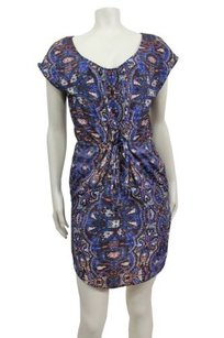 Eight Sixty short dress Multi-Color Blue Multi Abstract Print Mini on Tradesy