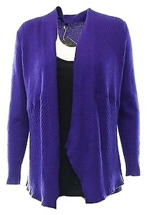 Eileen Fisher Purple Ribbed Sweater