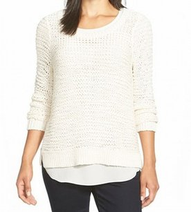 Eileen Fisher Cotton Blends F5tpt-w2869m New With Tags Scoop Neck 3541-0056 Sweater