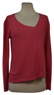 Eileen Fisher Womens Knit V Neck Linen Long Sleeve Shirt Sweater