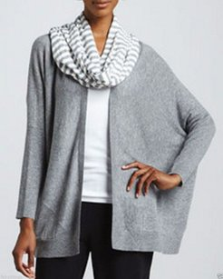 Eileen Fisher Wieghtless Open Front Cardigan