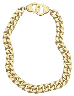 eklexic CURB CHAIN & HANDCUFF CLASP NECKLACE (Gold)