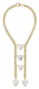 eklexic TRIANGLE CRYSTAL LADDER NECKLACE (Gold)