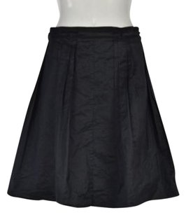 Elie Tahari Womens Metallic Casual Skirt Black