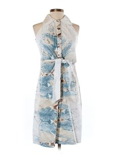 Elie Tahari short dress Silk Print Belted on Tradesy