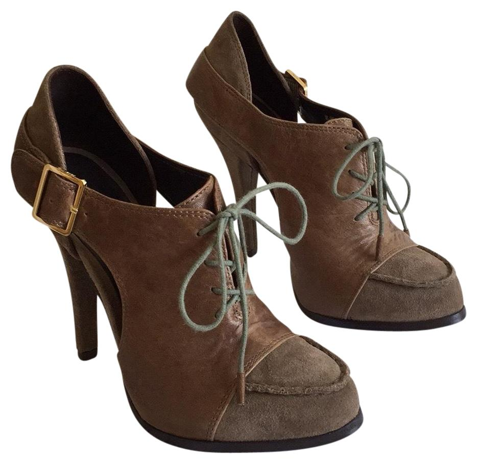 Elizabeth and Pumps James Brown Leather Suede Pumps and Size US 7.5 Regular (M, B) 33dc45