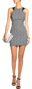 Elizabeth and James Jacquard Party Date Monochrome Cut-out Dress