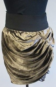 Elizabeth and James Rayon Skirt Gold