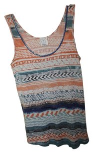 Ella Moss Aztec Thunder Top Blue and Orange Pastels