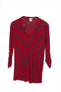 Ella Moss Casual T Shirt Red and Navy Blue