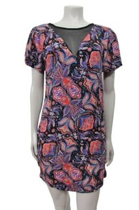 Ella Moss short dress Multi-Color Lora Print With Sheer Inset Neck on Tradesy