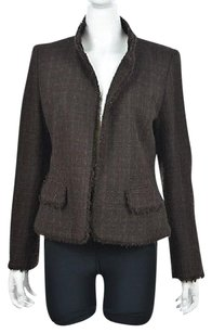 Ellen Tracy Womens Brown Jacket