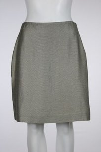 Ellen Tracy Linda Allard Skirt Gray, Silver, Gold