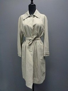 Ellen Tracy Company Belted Snap Down Trench Jacket Sm14434 Trench Coat
