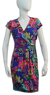 Ellen Tracy Womens Blue Dress
