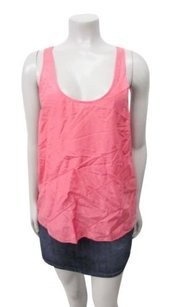 Eloise E Anthropologie Carnation Perforated Striped Top Pink