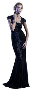Ema Savahl Handpainted Evening Dress