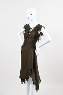 Emanuel Ungaro short dress Brown Silk on Tradesy