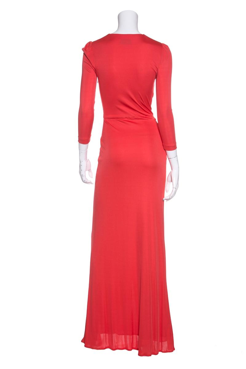 Emilio Pucci Orange Stretch Knit Evening Gown Long Formal ...