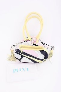 Emilio Pucci Pink Black Satchel in Multi-Color