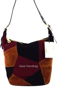 Emma Fox Leather Filmore Red Hobo Bag