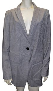 Emporio Armani Armani Collezioni Black White Houndstooth Wool Blend Blazer Hs2954 Multi-Color Jacket