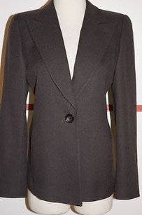 Emporio Armani Charcoal Wool Grays Jacket