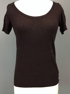 Emporio Armani Wool Silk Scoop Neck Short Sleeve Sma 3633 Sweater