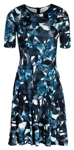ERDEM short dress Green Teal Blue White on Tradesy