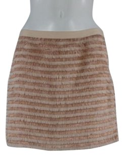 Erin Fetherston Erin Womens Striped Straight Above Knee Skirt Pink