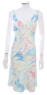 Escada short dress Multi-color Watercolor 100% Linen on Tradesy