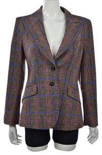 Escada Womens Blazer Brown Jacket