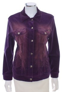 Escada Denim Jean Ombre Cotton Purple Womens Jean Jacket