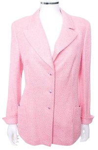 Escada Germany Notch Lapel Long Pink Blazer
