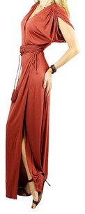 Brown Maxi Dress by Escada Maxi Designer V-neck